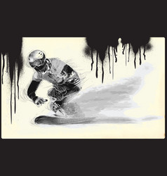 Athletes with physical disabilities - snowboard vector