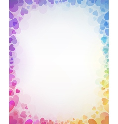Background from color hearts vector image