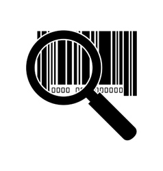 Barcode with serial number lupe vector