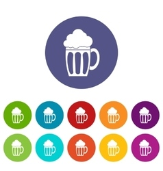 Beer set icons vector
