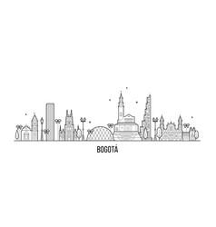 bogota skyline distrito capital colombia a vector image