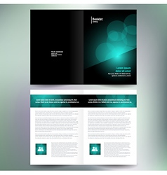 Booklet catalog brochure folder bokeh abstract vector