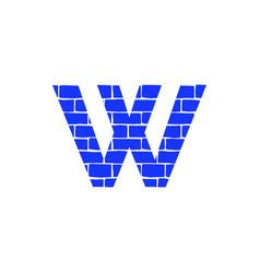 Brick logo letter w vector