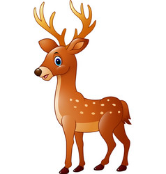cartoon funny deer vector image