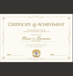 certificate retro vintage design 3 vector image