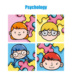 childrens psychology cartoons vector image
