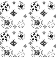 christmas balls snowflake decoration ornament vector image