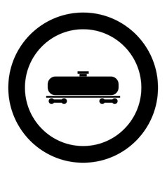cistern black icon in circle vector image