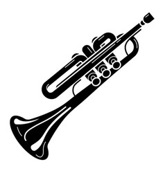 Classical trumpet icon simple style vector