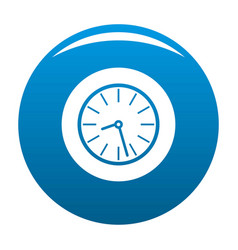 Clock business icon blue vector