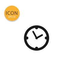 clock timer icon isolated flat style vector image