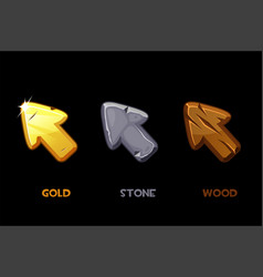 collection isolated old cursors vector image