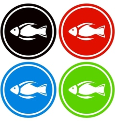 Colorful fish icon vector