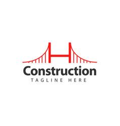Construction logo template design vector