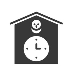 cuckoo clock solid design pixel perfect vector image