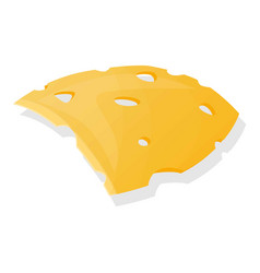 cutted cheese icon cartoon style vector image