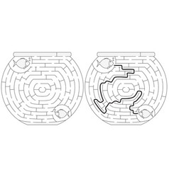 Easy fishbowl maze vector