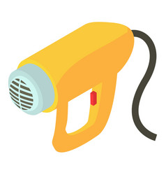 electric dryer icon isometric 3d style vector image