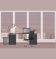 empty modern office interior image office vector image