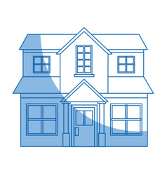 Family house private residential architecture vector