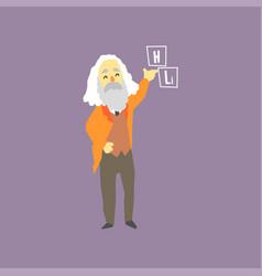 Famous russian chemist - dmitri mendeleev vector