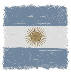 Flag of Argentina handmade square shape vector image