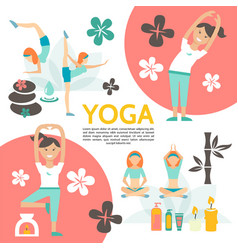 flat yoga and harmony poster vector image