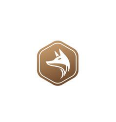 Fox head for logo design in shape icon vector