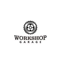 Garage logo gear element automotive modern vector