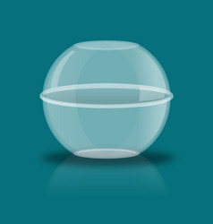 glass ball with reflection empty transparent vector image