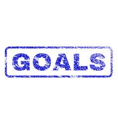 Goals rubber stamp vector