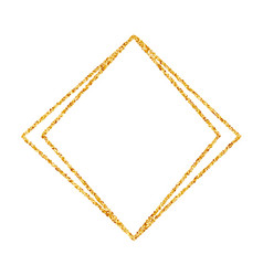 gold geometric glitter polygon frame vector image