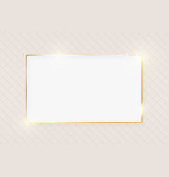 Gold shiny glowing luxury greeting card vector