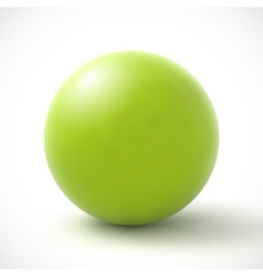 Green sphere on white background vector