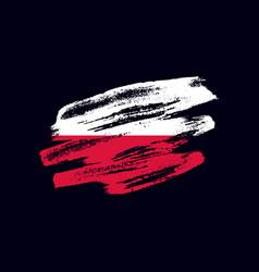Grunge textured polish flag vector