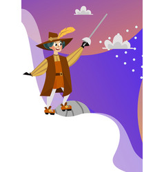 Happy columbus day poster spanish sailor with vector