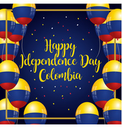 Happy independence day colombia banner vector