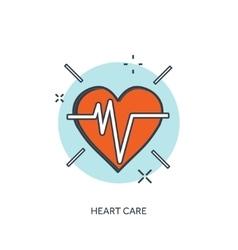 Heart cardiogram medical vector