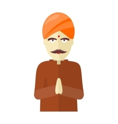 Indian Man Isolated on White Background vector