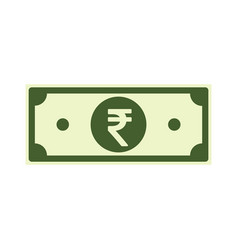 Indian rupee paper notes isolated on white back vector