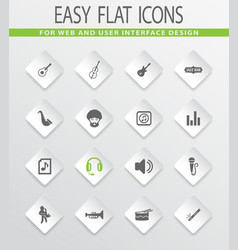 jazz and blues icons set vector image