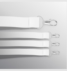 Lanyard mockup with ribbon vector