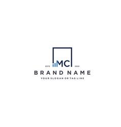 Letter mc square logo finance design vector