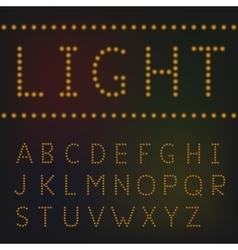 Light letter set vector image vector image