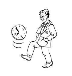 linear procrastination vector image