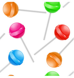 lollipops as seamless pattern colored set vector image