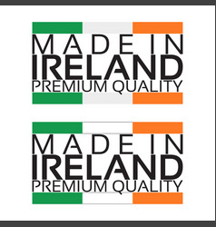 made in ireland icon premium quality sticker vector image