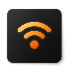 Orange glowing wi-fi wireless internet network vector