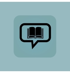 Pale blue book message icon vector
