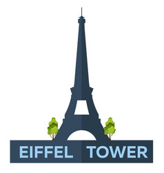 paris tourism eiffel tower france modern flat vector image